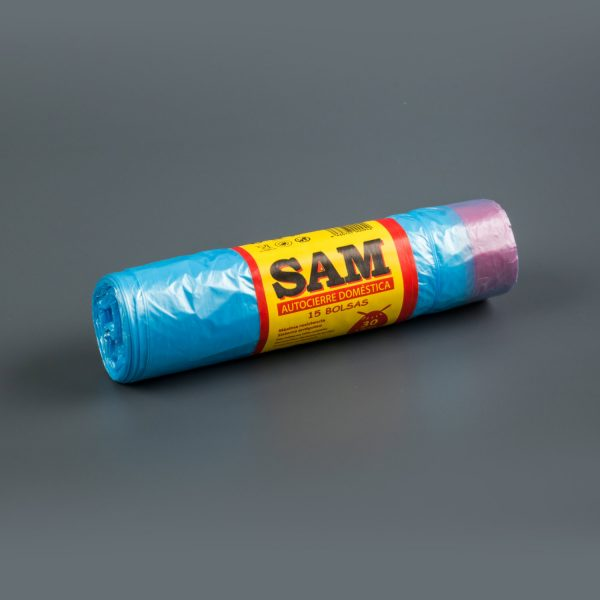 sacs-poubelles Rouleau Sam bleu
